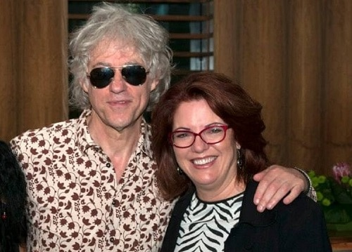 Sir Bob Geldoff with Life and Times Producer Cindy Siano