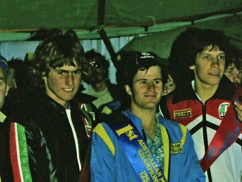 1979 Australian Championships Wanneroo - Presentations - L-R Max Stipanicev, Neville Cutts and Stephen Gall