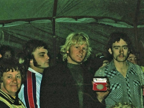 1979 Australian Championships Wanneroo - Presentations -Sidecars - David Wells-Trevor Thompson and Barry Buckley (left)