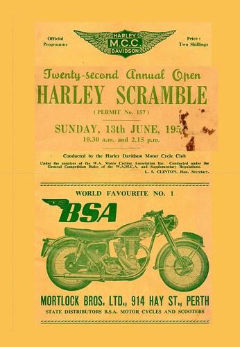 1954 Harley Scramble Ropeworks Mosman Park Western Australia