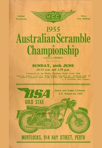 1955 Australian Scrambles Championships Ropeworks Mosman Park Western Australia