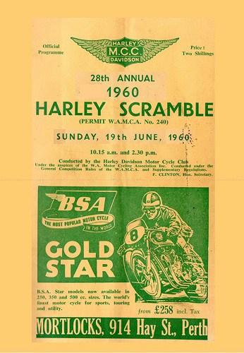 1960 Harley Scramble Ropeworks Mosman Park Western Australia