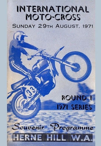 1971 Motocross Programme - Herne Hill Western Australia
