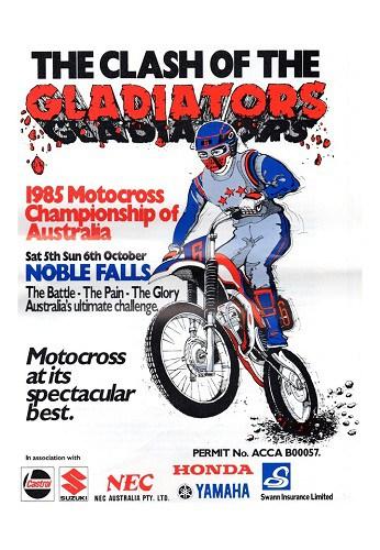 1985 Australian Motocross Championships Programme Noble Falls WA