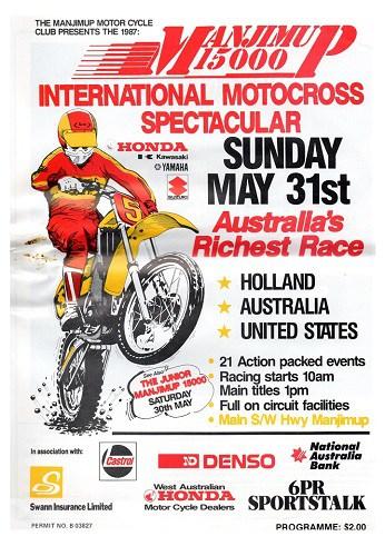 1987 Manjimup 15000 Motocross Programme