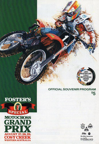 1993 World 125cc Grand Prix Programme - Manjimup Western Australia