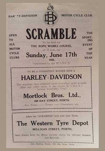1928 Harley Scramble Rope Works Mosman Park Western Australia