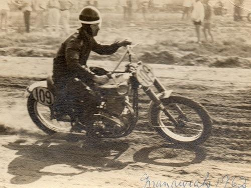 1962 - Don Collins at the Mandurah Scramble in 1962 (WA)