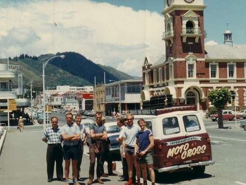 1966 Australian NZ International Tour in New Zealand - on the road in the eastern states