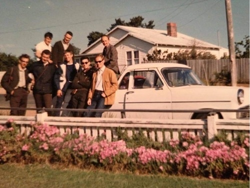 1966 Australia NZ International Tour in New Zealand - staying with a family in Tasmania