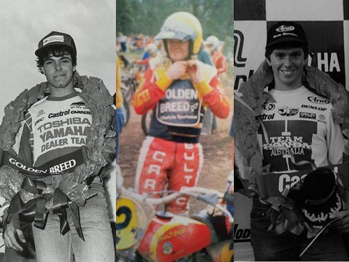 Australian motocross legends Bell, Flood and Leisk