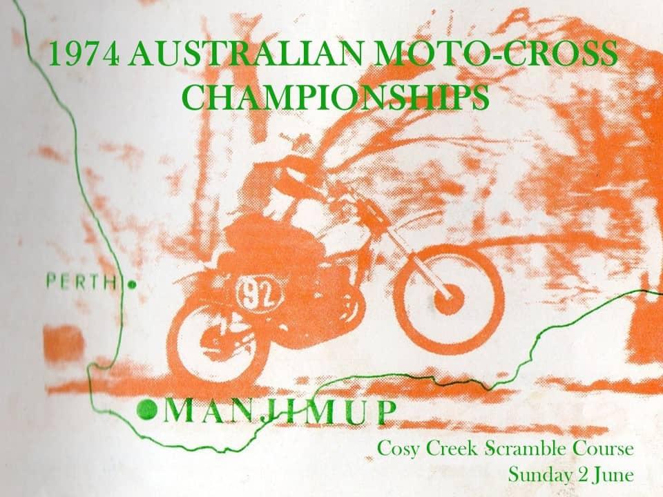 1974 Australian Motocross Championships Manjimup - Program Cover