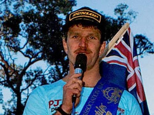 1985 AMX CS Noble Falls WA - Jimmy Ellis 250cc Champion awards ceremony - Landscape