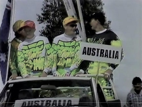1992 Motocross Des Nations - Team Australia Jason Marshall 500, Kim Ashkenazi 125 and Dale Britton 250