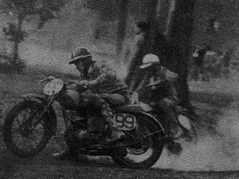 1953 Australian 125, 250 and Unlimited Motocross Champion Ken Rumble on a BSA Welsh Bantom