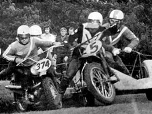 Murray Williams kicks out at arch-rival Barry Buckley in the early 1970s