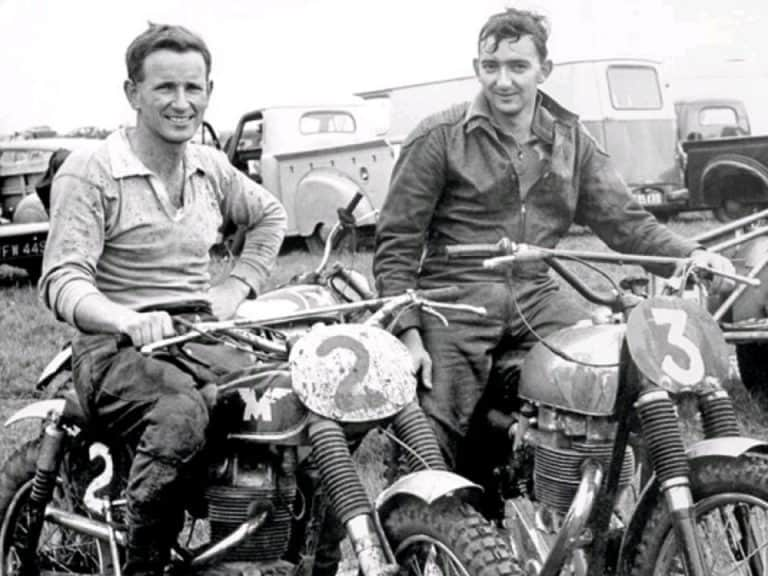 Charlie West (WA) at a 1963 British Scramble with Tim Gibbes (NZ)