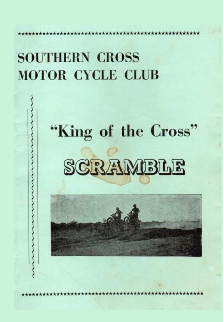 1977 Motocross Programme - King of the Cross WA - Cover