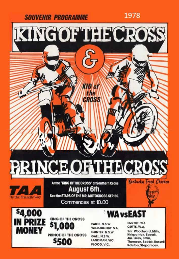 1978 Motocross Programme - King of the Cross WA - Cover