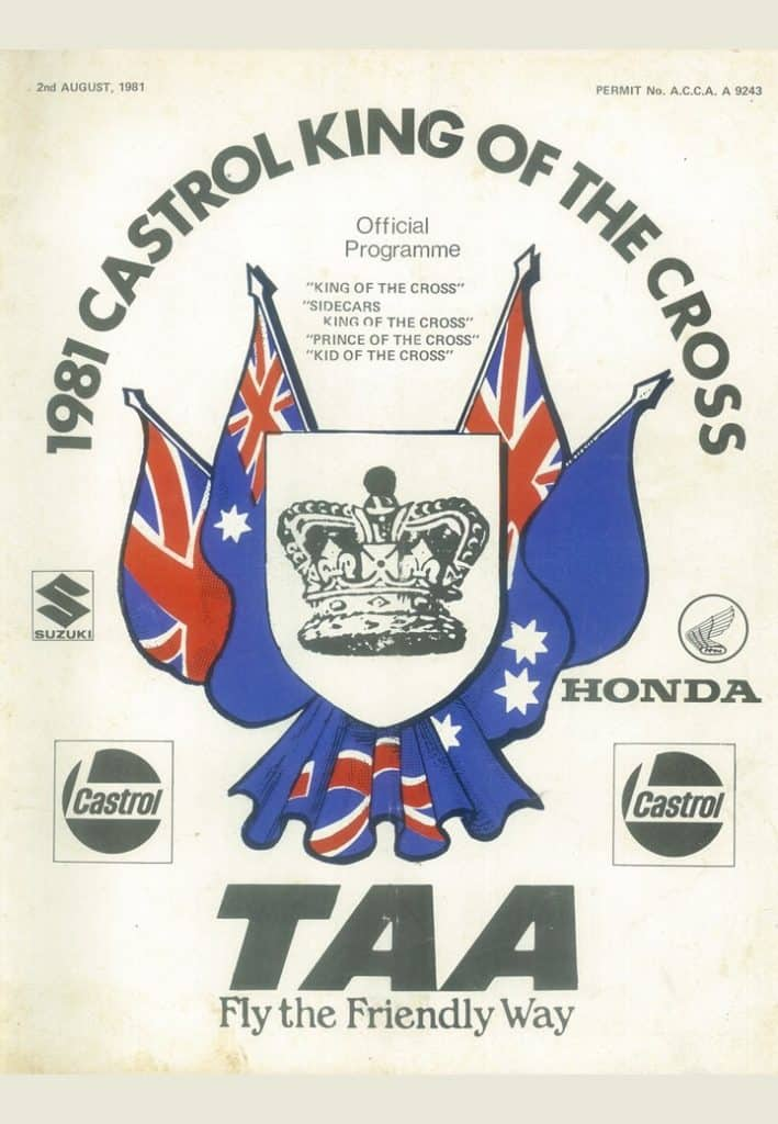 1981 Motocross Programme - King of the Cross WA - Cover