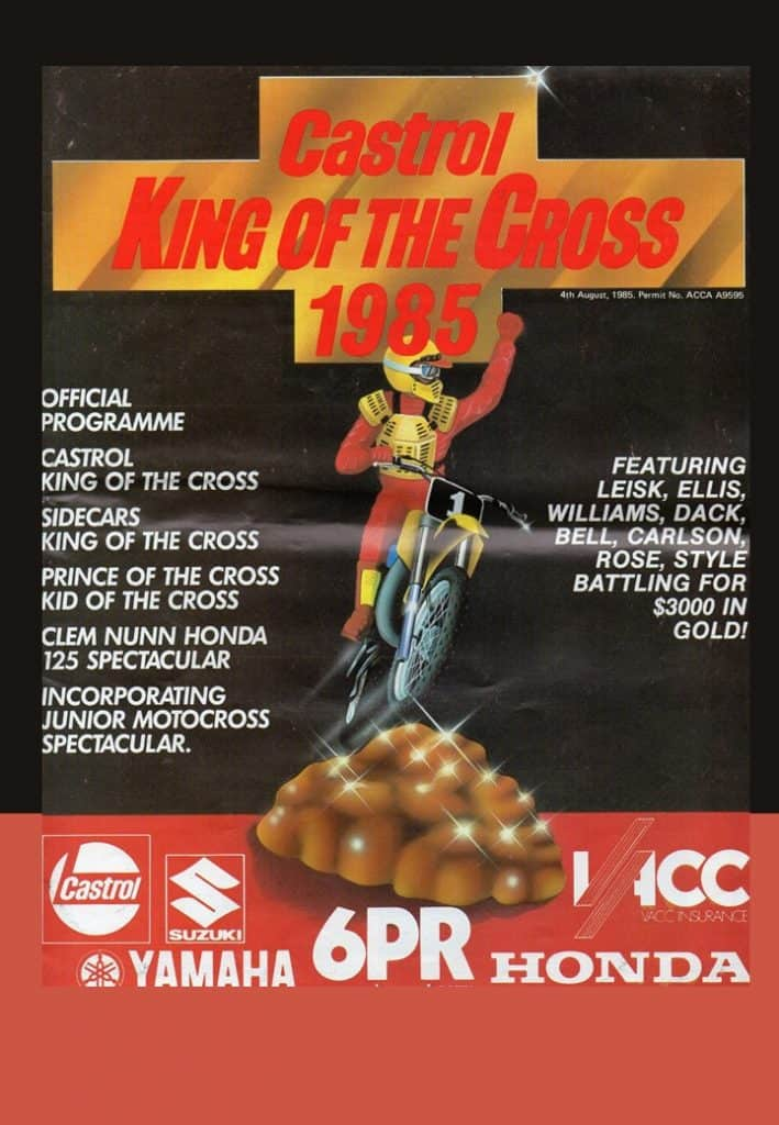 1985 King of the Cross - Programme Cover