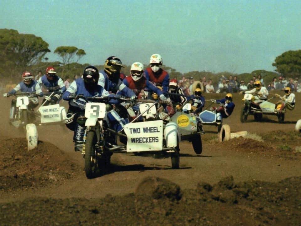 Sidecar King of the Cross Winners - Joe Grasso and Peter Williams