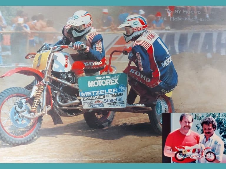 Emil Bollhalder's poster for and Charlie Busser - World Sidecar Champions poster for John Turner